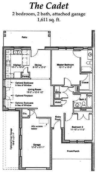 The Cadet - Floor Plan