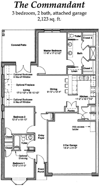 The Commandant - Floor Plan